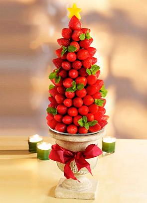 Вкусный новогодний десерт в виде елочки