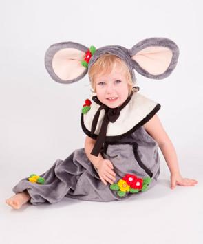 Новогодний костюм мышки девочке
