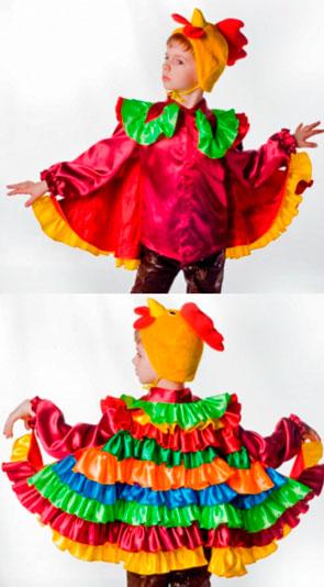 Яркий новогодний костюм петушка